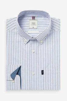 Next Easy Iron Button Down Oxford Shirt-Regular Fit Single Cuff - 273589