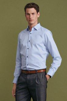 Next Contrast Trim Shirt-Slim Fit Single Cuff - 273594