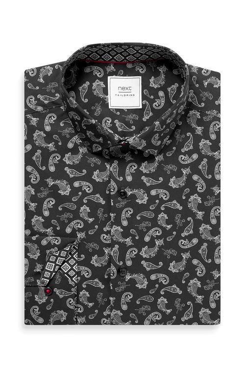 Next Printed Shirt With Trim Detail