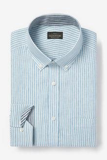 Next Signature Nova Fides Linen Shirt-Slim Fit Single Cuff - 273610