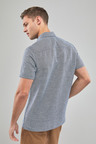 Next Linen Blend Short Sleeve Shirt-Tall