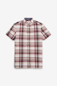 Next Short Sleeve Madras Check Shirt - 273629