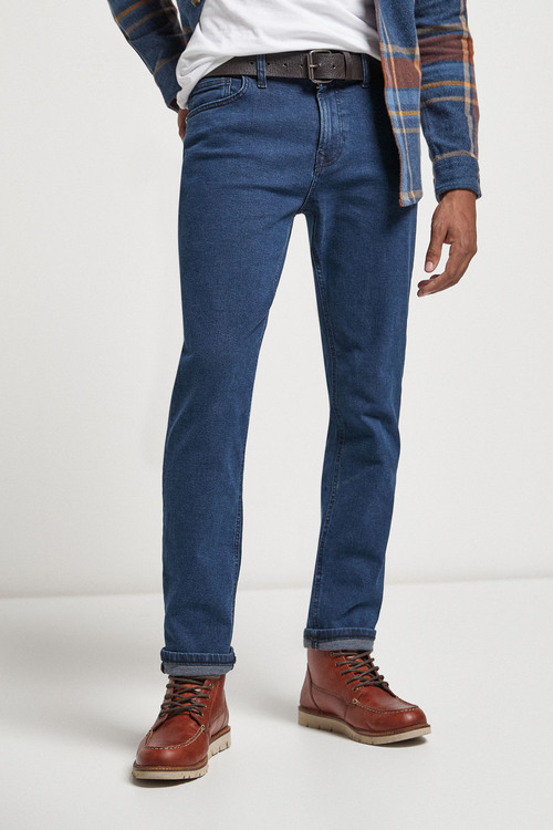 Next Belted Jeans With Stretch-Slim Fit