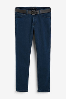 Next Belted Jeans With Stretch-Slim Fit - 273636