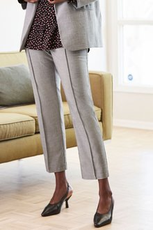Next Sharkskin Elastic Waist Trousers - 273644