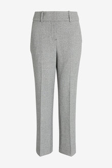 Next Emma Willis Herringbone Straight Leg Trousers-Regular - 273673