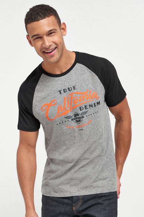 Next Raglan Graphic T-Shirts Three Pack