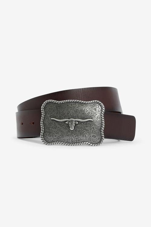 Next Signature Italian Leather Plaque Belt