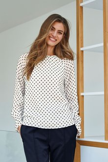 Next Ruched Textured Long Sleeve Top - 273808