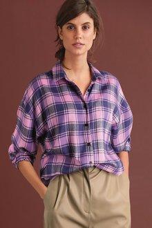 Next Check Boyfriend Shirt-Regular - 273829