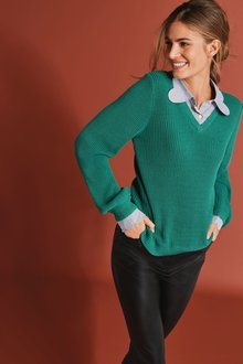 Next Scallop Collar Layer Jumper - 273866