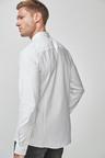 Next Long Sleeve Stretch Oxford Shirt-Tall