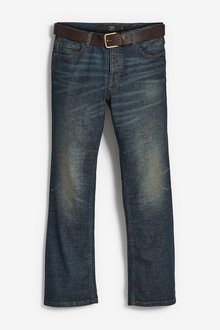 Next Belted Jeans With Stretch-Bootcut Fit - 273906