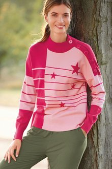 Next Colourblock Star Jumper - 273932