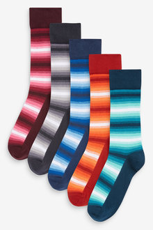 Next Stripe Socks Five Pack - 273937