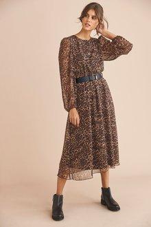 Next Belted Dress-Regular - 273955