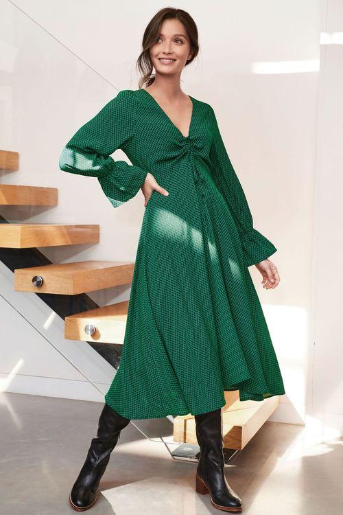 Next Ruched Midi Dress-Regular