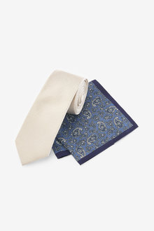 Next Tie With Pocket Square And Pin Set - 273995