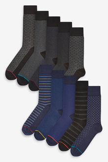 Next Formal Pattern Socks Ten Pack - 274013