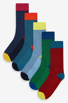 Next Geo Pattern Socks Five Pack - 274017