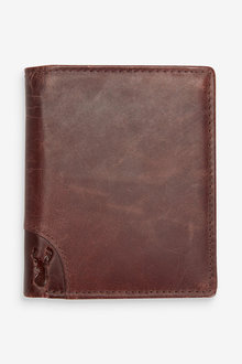 Next Leather Bifold Wallet With Embossed Stag - 274018