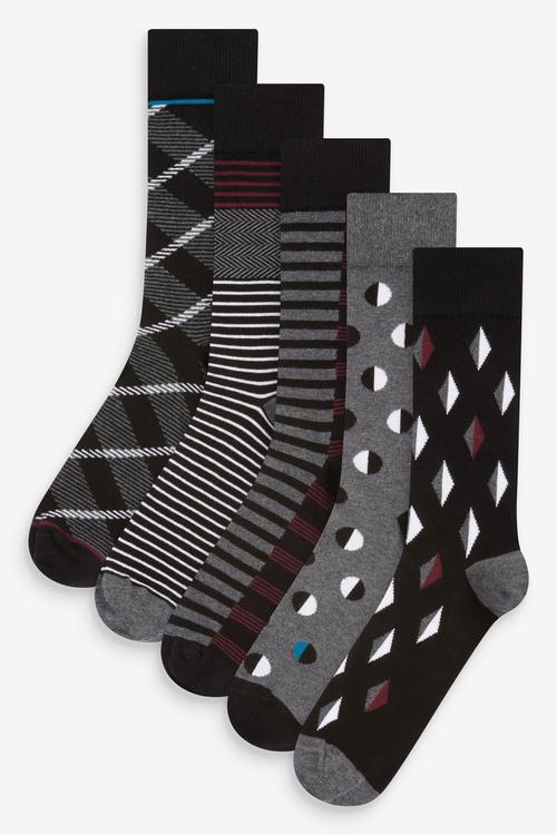 Next Pattern Socks Five Pack