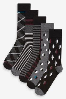 Next Pattern Socks Five Pack - 274019
