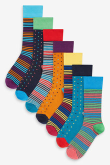 Next Stripe Spot Socks Eight Pack - 274024