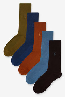 Next Textured Stag Colour Socks Five Pack - 274096