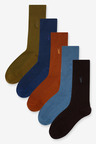 Next Textured Stag Colour Socks Five Pack