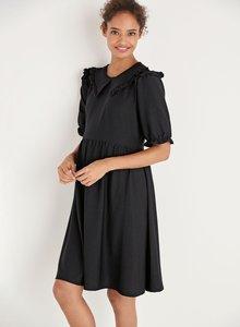 Next Maternity Collar Detail Textured Dress - 274201
