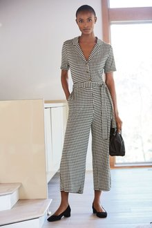 Next Check Jacquard Jumpsuit-Tall - 274339