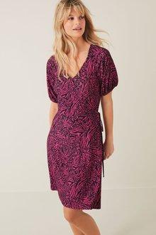 Next Crepe Wrap Dress-Regular - 274381
