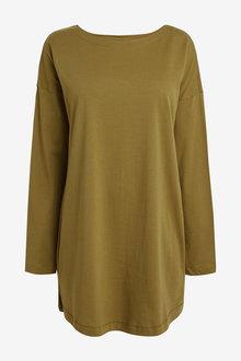Next Relaxed Long Sleeve T-Shirt Dress-Regular - 274390