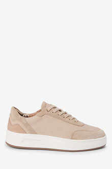 Next Signature Leather Back Detail Trainers - 275080