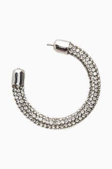 Next Sparkle Tube Hoop Earrings - 275477