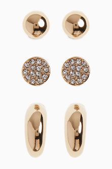 Next Hoop And Stud Earrings Three Pack - 275479