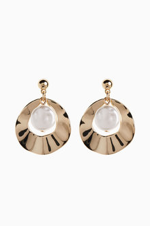 Next Pearl Effect Disc Earrings - 275483