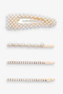 Next Pearl Effect Hair Clips Four Pack - 275511