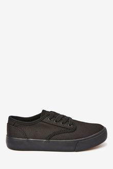 Next Canvas Lace Up Shoes (Older) - 275653