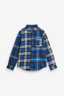 Next Spliced Check Long Sleeve Shirt (3-16yrs) - 275825