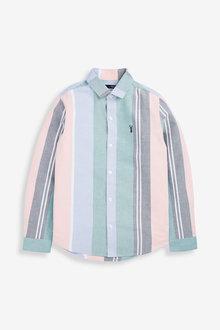 Next Long Sleeve Vertical Stripe Oxford Shirt (3-16yrs) - 275838