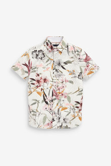 Next Floral Printed Short Sleeve Shirt (3-16yrs) - 275849