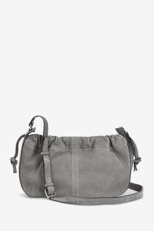 Next Leather Drawstring Cross-Body Bucket Bag - 275898