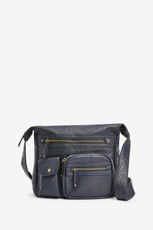 Next Large Washed Messenger Bag - 275904