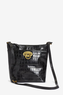 Next Leather Lock Detail Bucket Bag - 275906