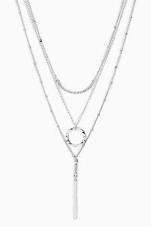 Next Three Layer Sparkle Necklace - 275955