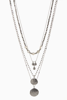 Next Pebble Three Row Short Necklace - 275956