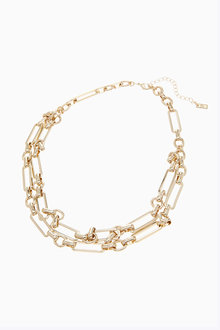 Next Two Row Chain Necklace - 275960
