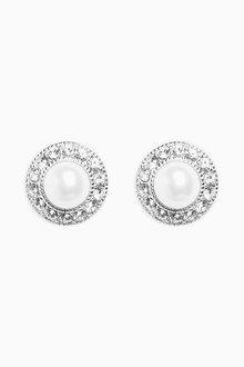 Next Pavu Pearl Effect Stud Earrings - 275976